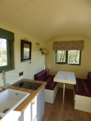 Inside the Shepherd's Hut