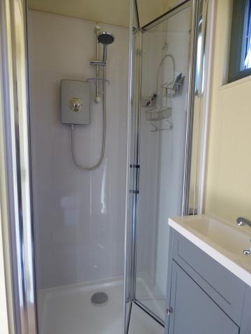 Shepherd's Hut Shower