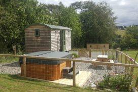 hot tub and hut
