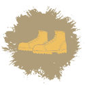 Walking boots icon
