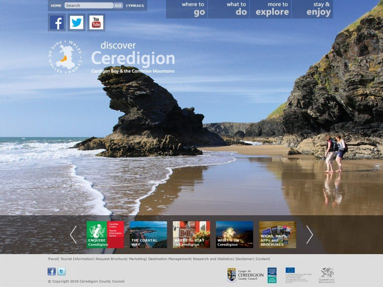 Discover Ceredigion website screenshot